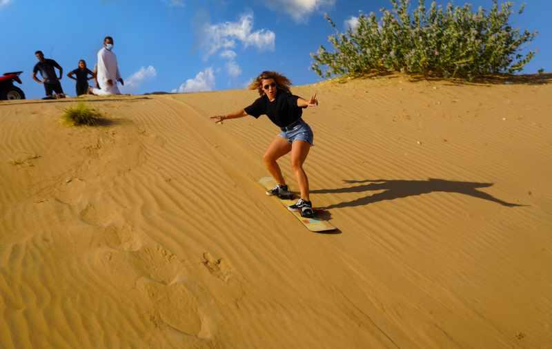 sunrise safari with sand-boarding