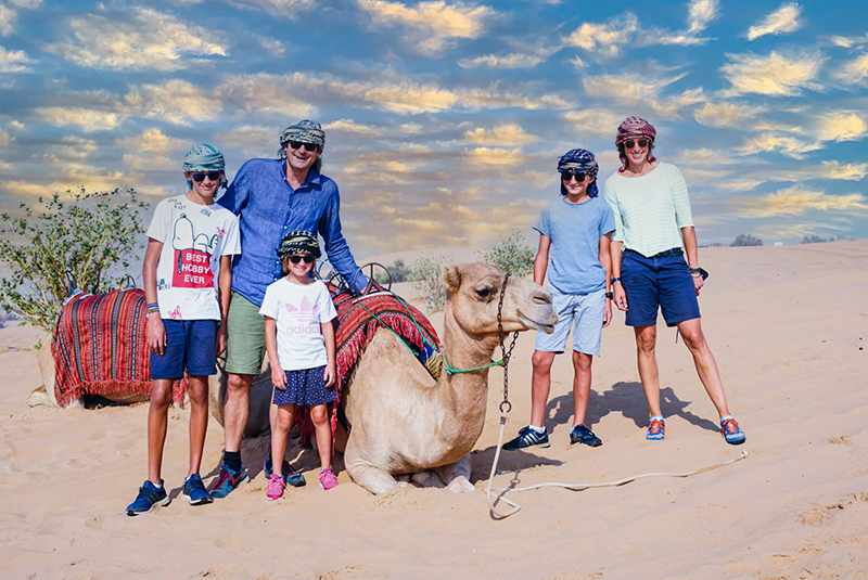 luxury desert experience with family
