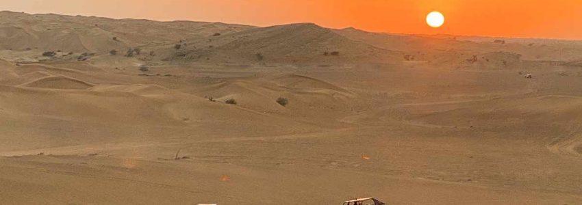 best sunset desert safari dubai