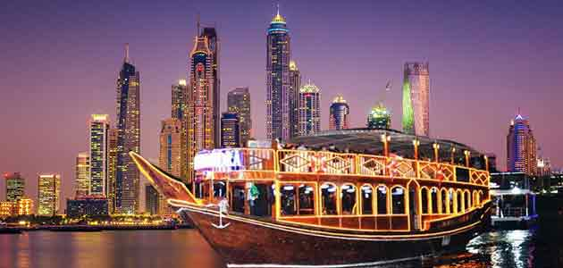 Belly dance in Cruise of Dubai Marina