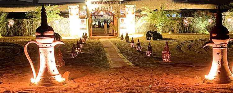 evening desert safari camp in Dubai