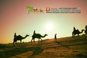 camel trekking Dubai Desert Safari