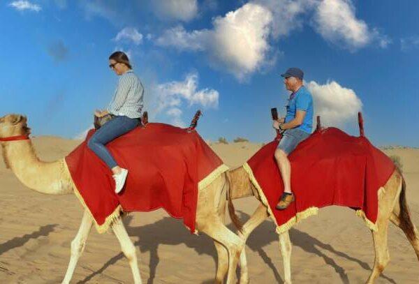 sunrise camel riding in Dubai