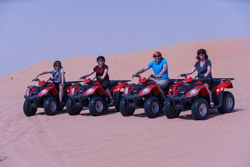 sunrise quad biking experience in Dubai