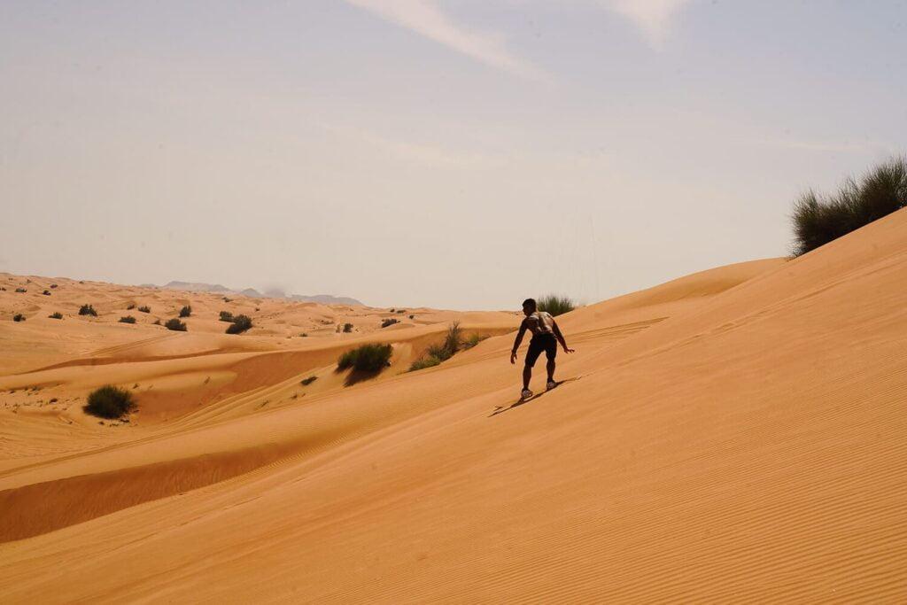 the great Dubai Desert Safari tours with sand boarding
